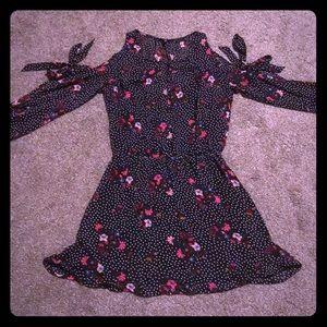 Express Dresses - Express Polka Dot Floral Dress